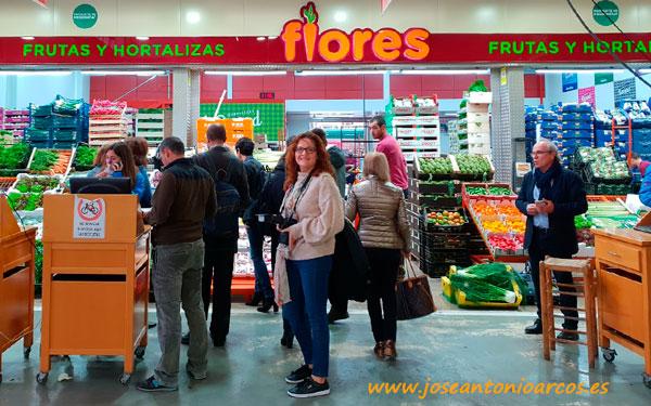 Ana Rubio en Frutas Flores, Mercabarna.