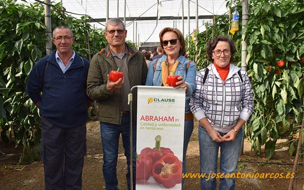 Marcelino Moreno, Juan Díaz, Loli Maldonado y Margarita Rodríguez, agricultores de El Ejido.