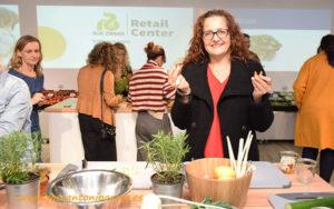 Ana Rubio con Rijk Zwaan en el Retail Center.