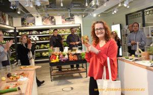 Ana Rubio en el Retail Center de Rijk Zwaan en Berlín.