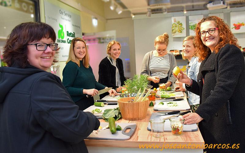 Ana Rubio en Berlín con food bloggers de Europa en el Retail Center de RZ.