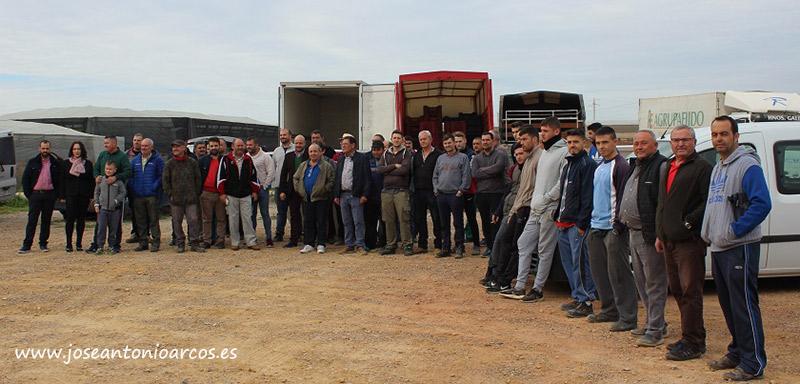 Agricultores almerienses en protesta por los bajos precios.