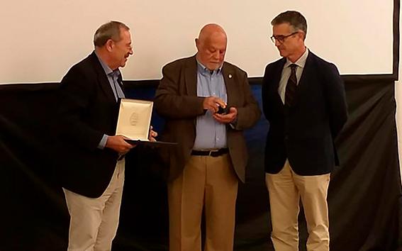 Jacinto Godoy con Francisco Góngora y Juan Colomina.