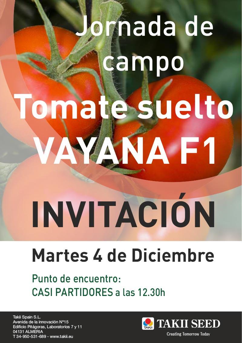 Día 4 de diciembre. Jornada de campo de tomate de Takii Seed