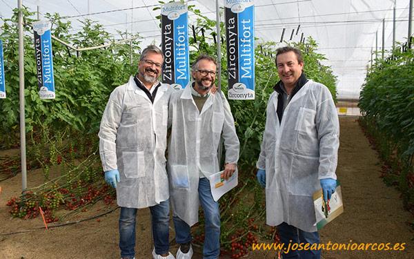 Juanmi Robles, Horacio Cano y Jesús Joya, miembros del equipo de Seminis.