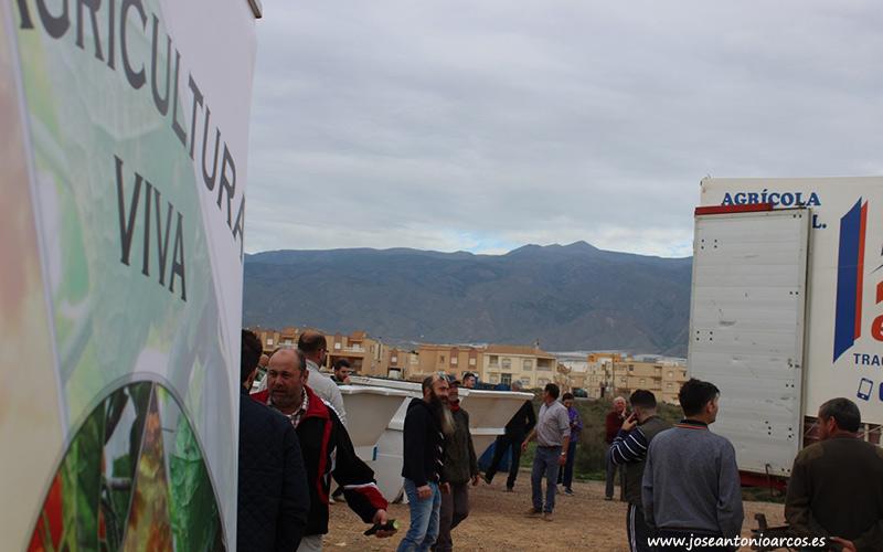 Imagen de archivo (diciembre 2018). Acto de protesta de agricultores en El Ejido ante la crisis del pepino.