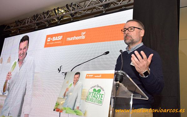 Juan Pedro Pérez Abellán, nuevo Crops Sales Manager de Lechuga en BASF Vegetable Seeds, fue el encargado de abrir y clausurar el evento.