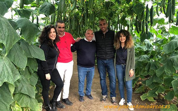Jornadas del pepino Caoba de Semillas Fitó en invernaderos de Almería.
