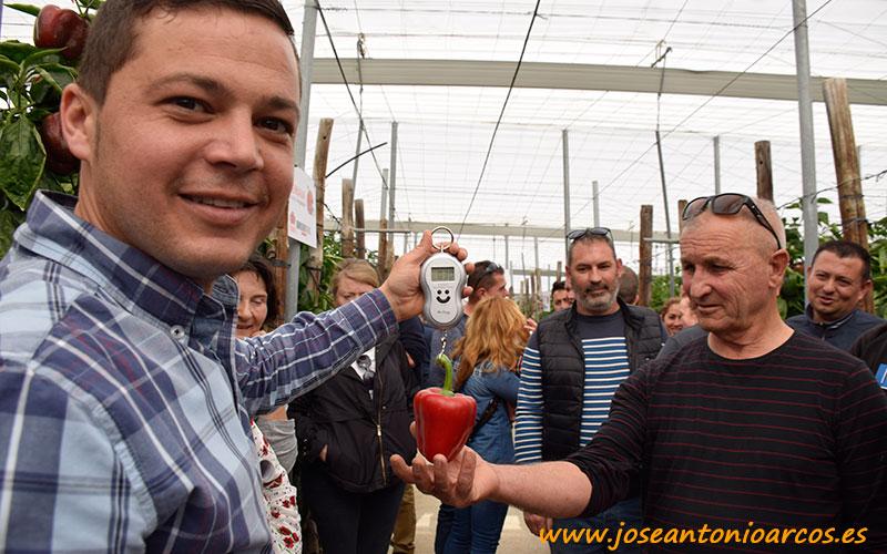 José Vázquez con pimiento Merkava.