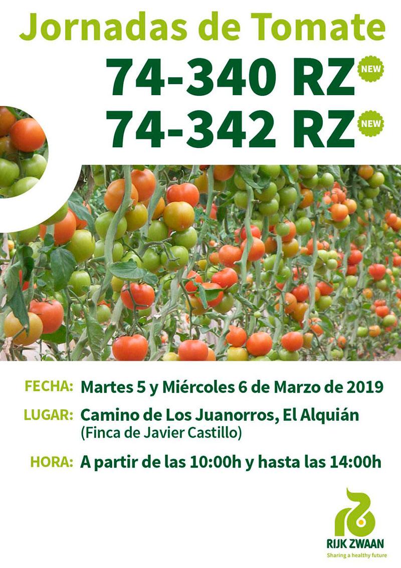 Días 5 y 6 de marzo. Jornadas de tomate de Rijk Zwaan