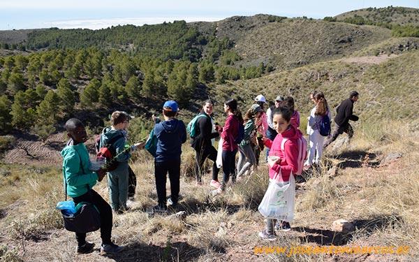 Alumnos del CEIP Federico García Lorca de Vícar reforestan la Sierra de Gádor.