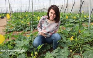 Guadalupe Sagües, técnica agrícola de Naturinda.