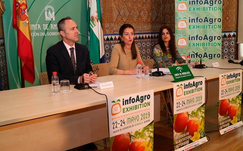 Momento de la rueda de prensa llevada a cabo en la Delegación del Gobierno de la Junta de Andalucía en Almería.
