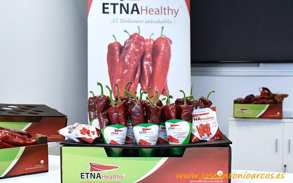 Envases biodegradables para pimientos biofortificados Etna Healthy de Axia Semillas - joseantonioarcos.es