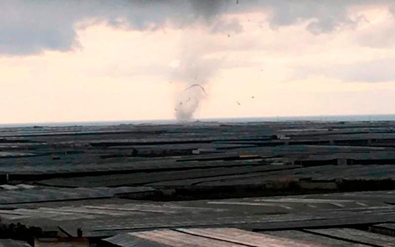 Tornado en El Ejido en enero de 2018.