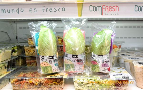 Wrap de tres sabores. Lechugas /joseantonioarcos.es