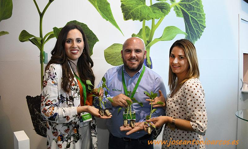 María Cara, Fran Hernández y Ana Belén Escudero de Semilleros El Plantel. /joseantonioarcos.es
