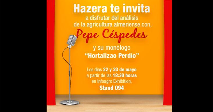 Hazera invita a disfrutar del análisis de la agricultura almeriense con Pepe Céspedes y su monólogo - joseantonioarcos.es