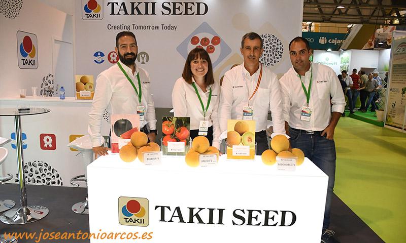 Equipo de Takii Seed en InfoAgro: Jaime Dols, Ana Portero, Antonio Almodóvar y Gabriel Pérez. /joseantonioarcos.es