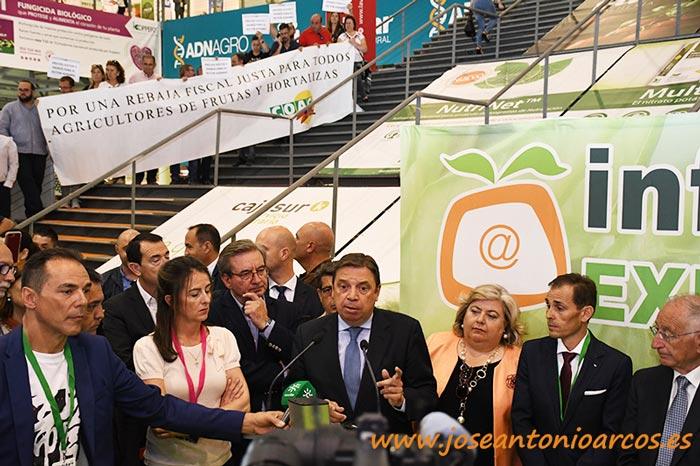 Inauguración InfoAgro Exhibition 2019 con Luis Planas. /joseantonioarcos.es