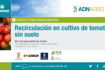 Día 17 de mayo. Jornada 'Recirculación en tomate sin suelo'. Gran Canaria