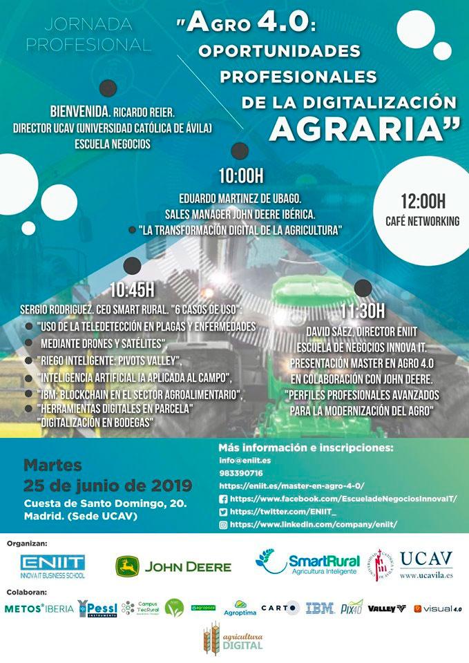 Día 25 de junio. Agro 4.0: Oportunidades profesionales de la digitalización agraria