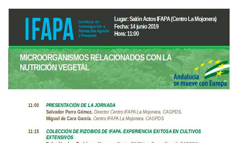 Día 14 de junio. Jornada 'Microorganismos relacionados con la nutrición vegetal'