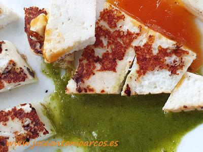 Queso a la plancha con mojo verde. /joseantonioarcos.es