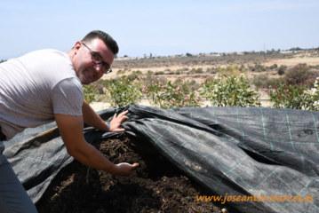 Campojoyma autocomposta sus restos vegetales