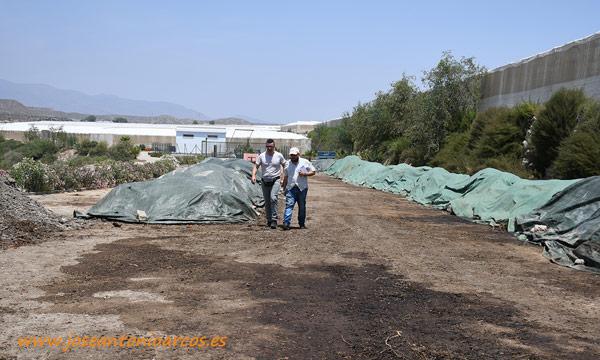 Zona acondicionada para la elaboración de compost. /joseantonioarcos.es