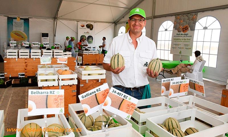 Diego Maestre, Crop Coordinator de melón de Rijk Zwaan. /joseantonioarcos.es
