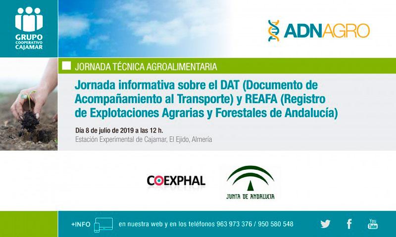 ornada informativa sobre el DAT (Documento de Acompañamiento al Transporte) y REAFA (Registro de Explotaciones Agrarias y Forestales de Andalucía)-joseantonioarcos.es