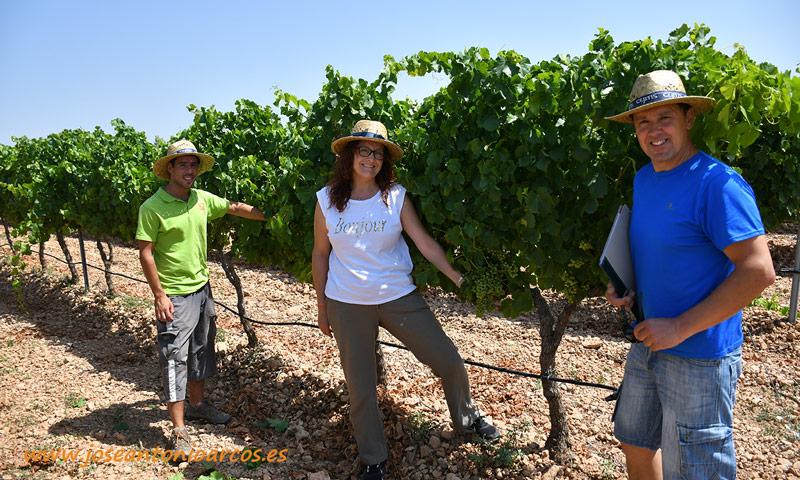 Ana Rubio en Navarra en la Estación de Viticultura y Enología de Navarra, EVENA de Olite. /joseantonioarcos.es