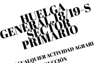 El campo español en huelga el 18 y 19 de septiembre