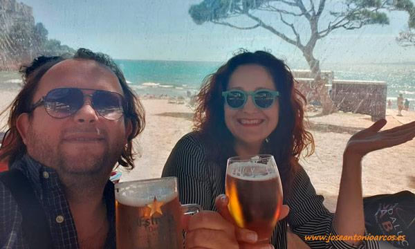 Ana Rubio y José Antonio Arcos en Salou. /joseantonioarcos.es