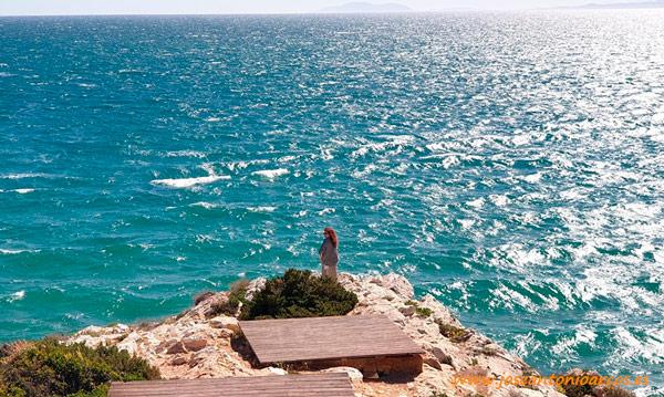 Ana Rubio en las playas de Salou, Tarragona. /joseantonioarcos.es