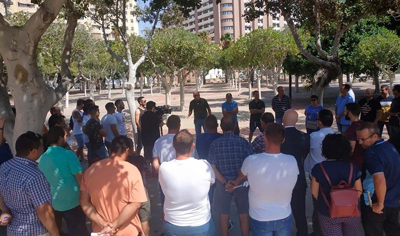 UNA organiza una protesta de agricultores en las Almadrabillas de Almería. /joseantonioarcos.es