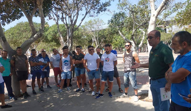 UNA organiza una protesta de agricultores en las Almadrabillas de Almería. Jesús Fuentes. /joseantonioarcos.es