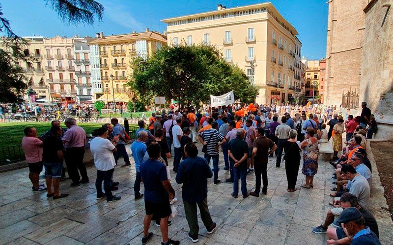 Agricultores en Valencia se manifiestan por la competencia de terceros países. /joseantonioarcos.es