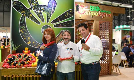 El chef Toni García con Campojoyma en Fruit Attraction 2019.