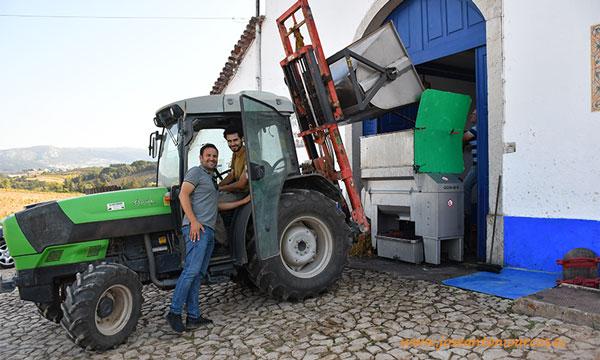 El enólogo Rodrigo Martins en la vendimia en la Quinta do Olival da Murta. Portugal.