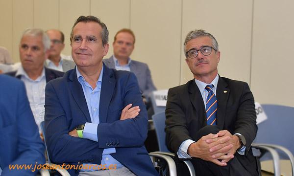Luis Miguel Fernández y Juan Colomina. /joseantonioarcos.es