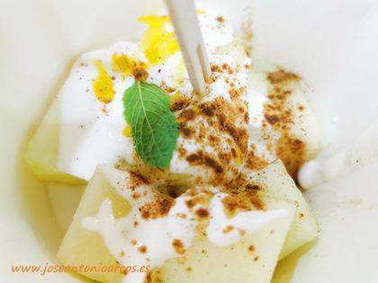 Melón de Nunhems con yogur-joseantonioarcos.es