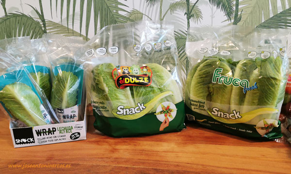 Wrap y lechugas snack de Rijk Zwaan. /joseantonioarcos.es