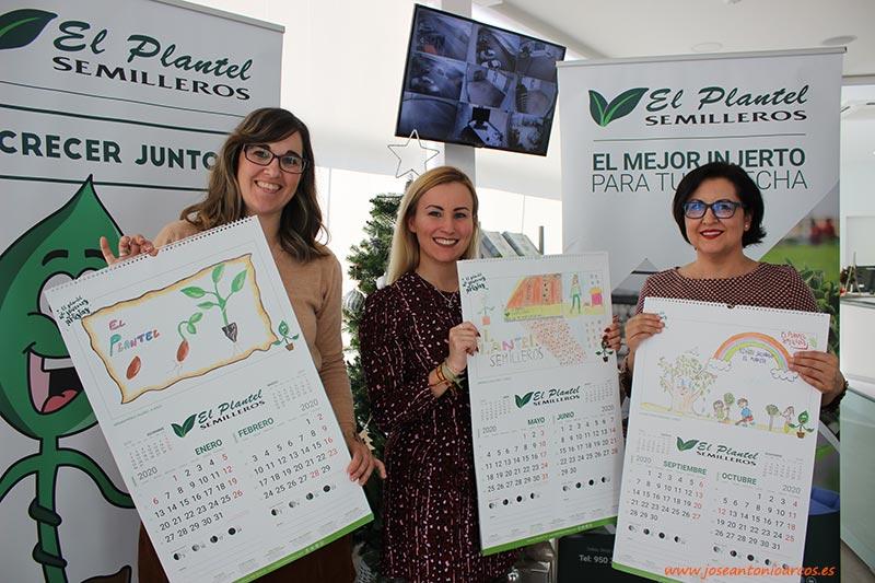 Miembros del jurado del concurso de dibujos de El Plantel. Yolanda Callejón, Candi Domingo y Mari Carmen Sánchez. /joseantonioarcos.es