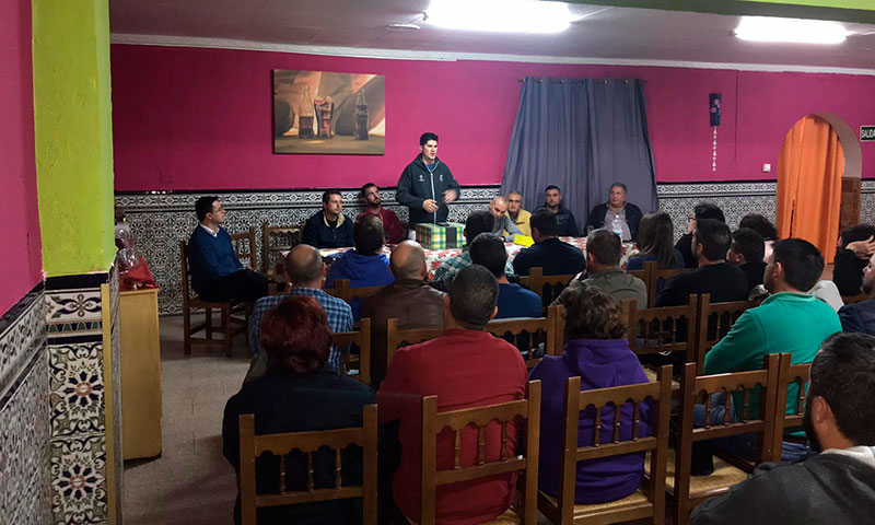 Reunión celebrada ayer de la Unión de Agricultores Independientes. /joseantonioarcos.es
