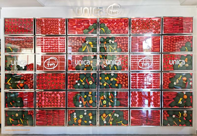 El mural de hortalizas o veggiewall de Unica Group-joseantonioarcos.es