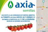 Días 30 y 31 de enero. Jornadas de tomate de Axia Semillas