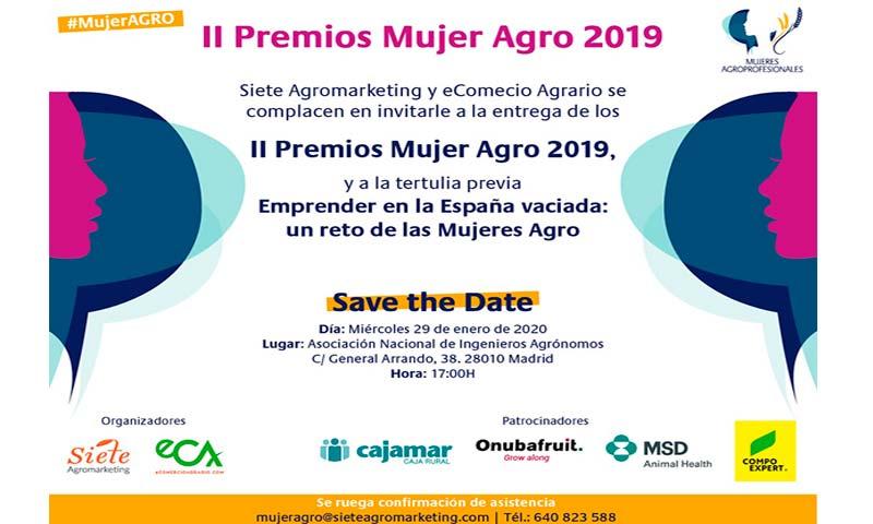 Siete Agromarketig y eComercio Agrario harán entrega de los II Premios Mujer Agro el próximo día 29 de enero, en un acto que tendrá lugar en la sede de la Asociación Nacional de Ingenieros Agrónomos-joseantonioarcos.es