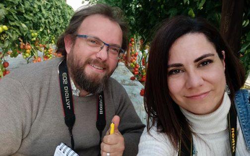 Mari Carmen Cerezuela y José Antonio Arcos en las jornadas de tomate de Ramiro Arnedo. /joseantonioarcos.es